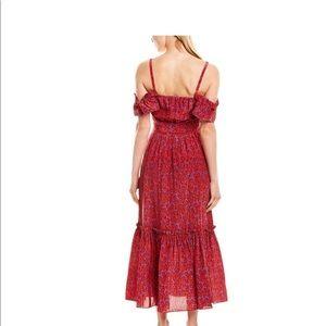 Derek Lam red off shoulder midi dress